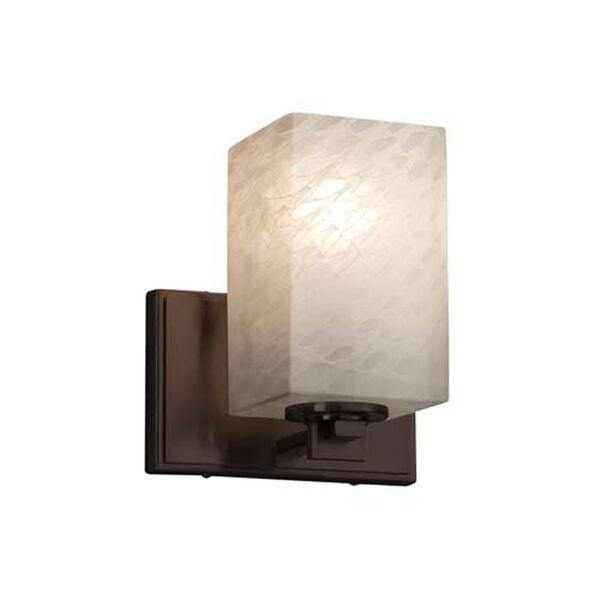 Fusion - Era Polished Chrome LED LED Wall Sconce with Square Flat Rim Weave Shade, image 1