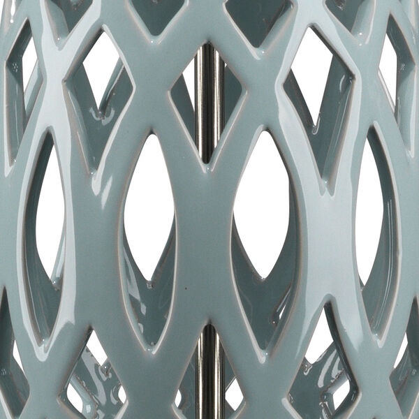 Cora Pale Blue and White One-Light Table Lamp, image 2