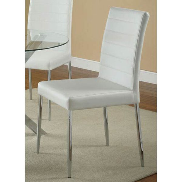 Vance White Dining Chair, image 1