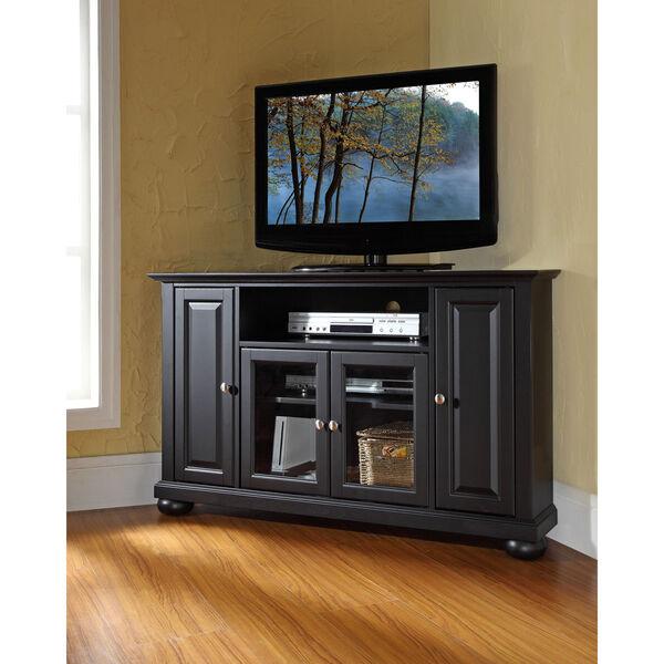 Alexandria 48-Inch Corner TV Stand in Black Finish, image 5