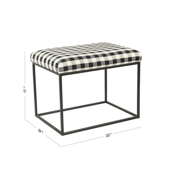 Black and White 22-Inch Ottoman, image 2