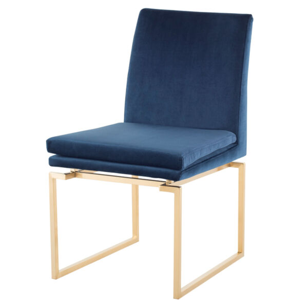 Savine Peacock and Gold Dining Chair, image 1