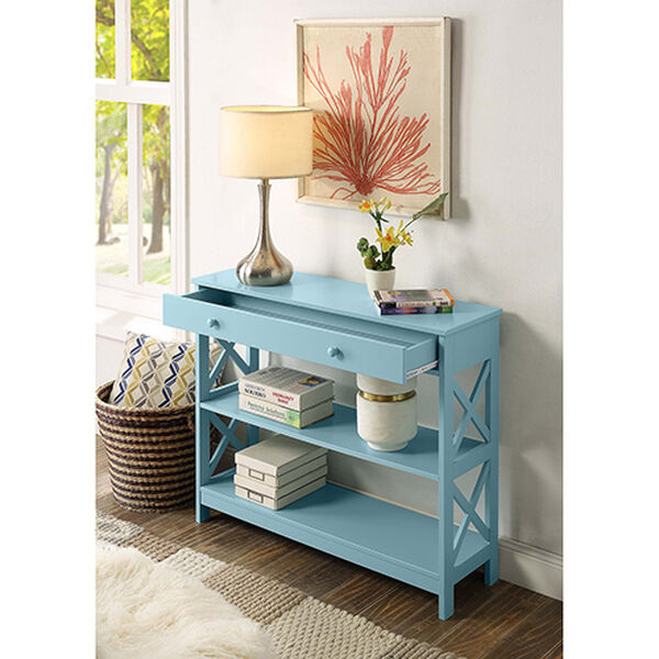Oxford Sea Foam One Drawer Console Table, image 4