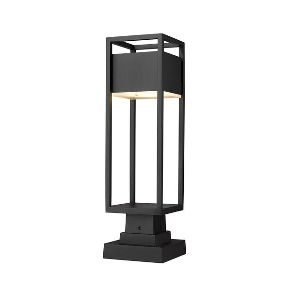 Barwick Black 22-Inch One-Light LED Outdoor Pier Mount, image 1
