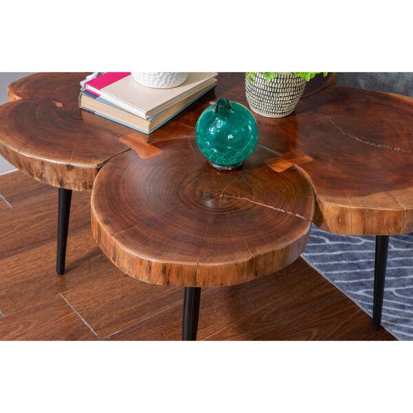 Aurelio Brown and Black Live Edge Small Coffee Table, image 8