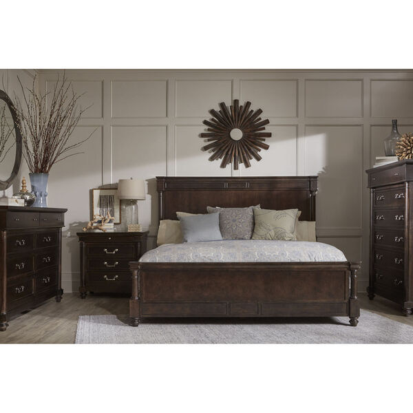 Lawrence Anabel Wood Dark Cherry Queen Bed, image 3
