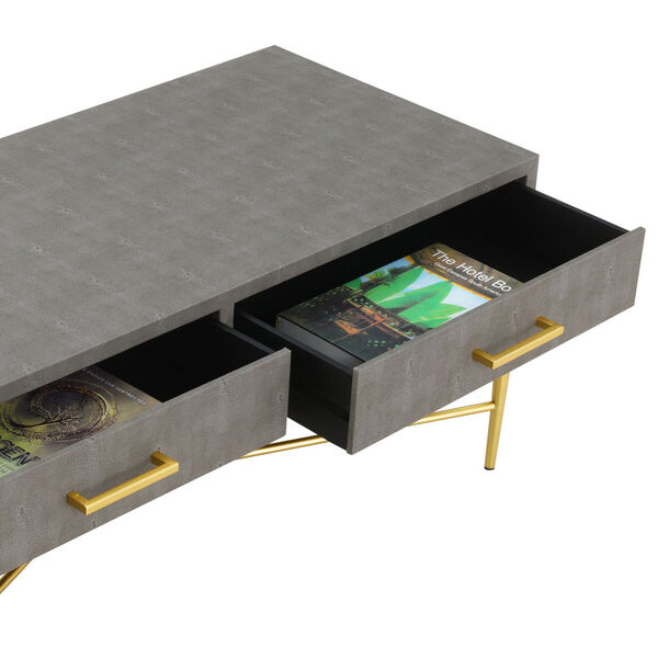 Gray and Gold 18-Inch Ashley Coffee Table, image 5
