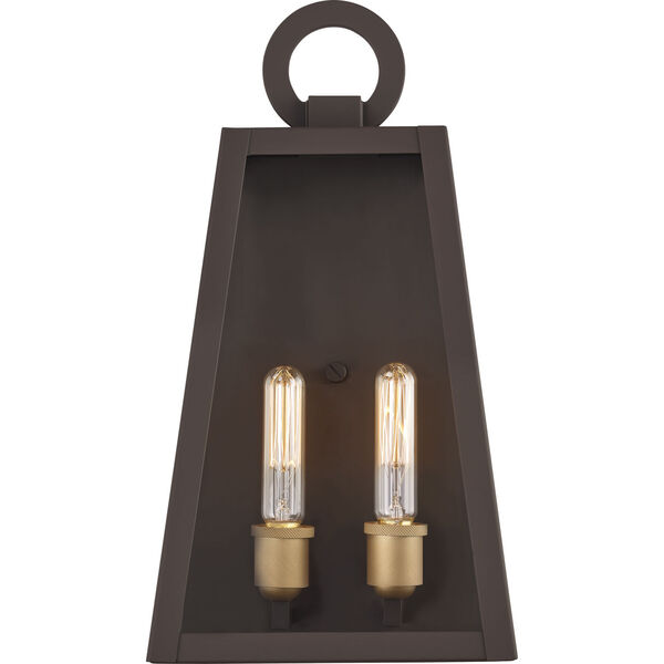Poplar Point Old Bronze Two-Light Outdoor Wall Mount, image 4
