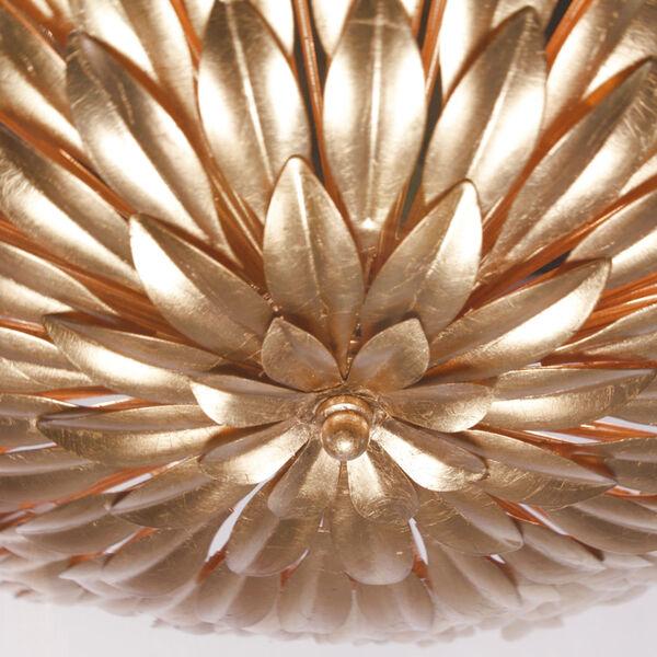 Broche Antique Gold Six-Light Flush-Mount Fixture, image 3