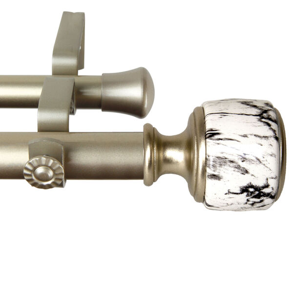 Josephine Gold 120-170 Inch Double Curtain Rod, image 3