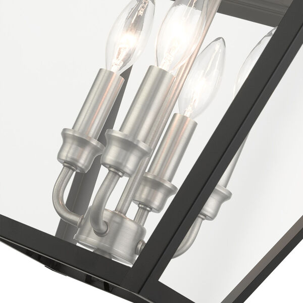 Mansfield Black Four-Light Outdoor Pendant, image 6