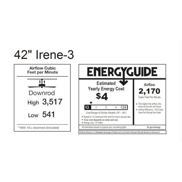 Irene-3 Matte Black and Walnut 42-Inch Outdoor Ceiling Fan, image 2