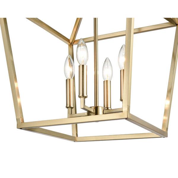 Modern Gold 16-Inch Four-Light Pendant, image 3