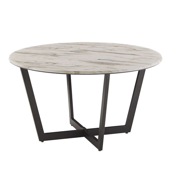 Danica White Faux Marble Coffee Table, image 1