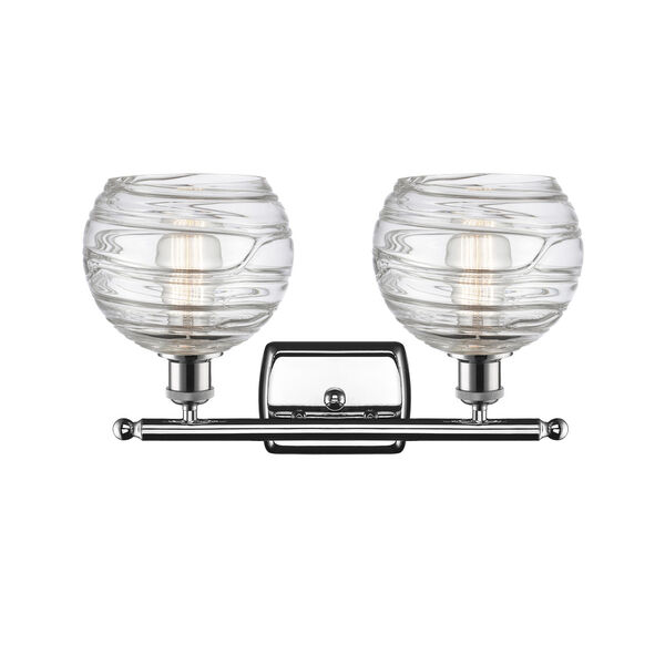 Ballston Polished Chrome 16-Inch Two-Light Bath Vanity with Clear Glass Shade, image 2