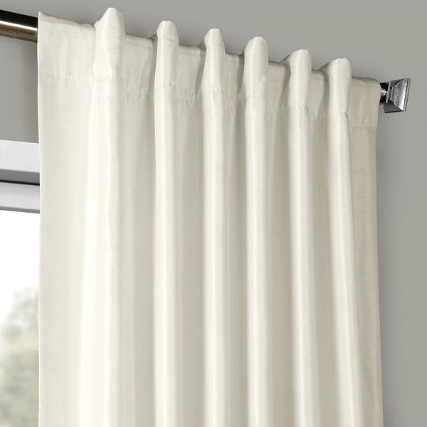 Off White Vintage Textured Faux Dupioni Silk Single Panel Curtain, 50 X 96, image 4