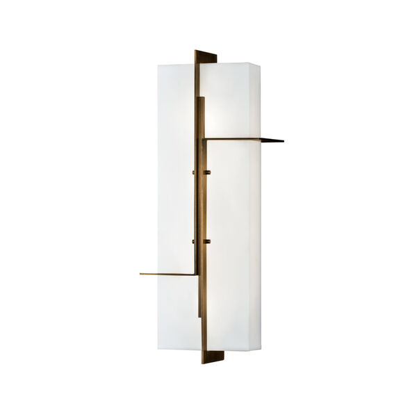 Matrix Aged Brass LED Outdoor Wall Mount, image 1