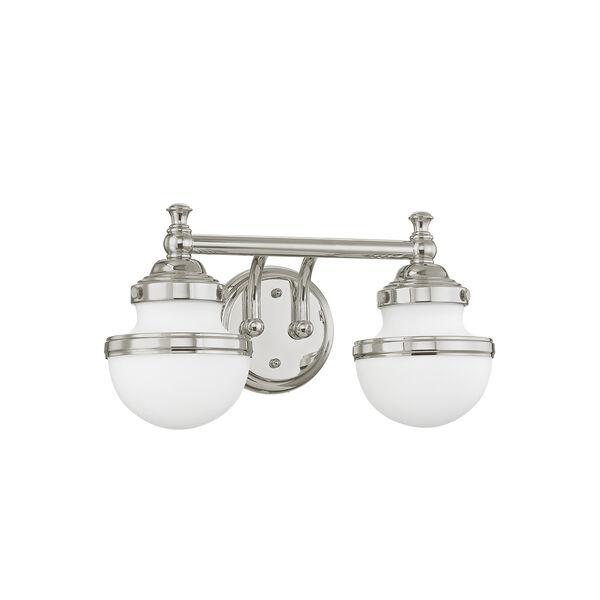 Oldwick Polished Chrome Two-Light 15-Inch Bath Vanity, image 4