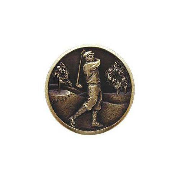 Antique Brass Gentleman Golfer Knob , image 1