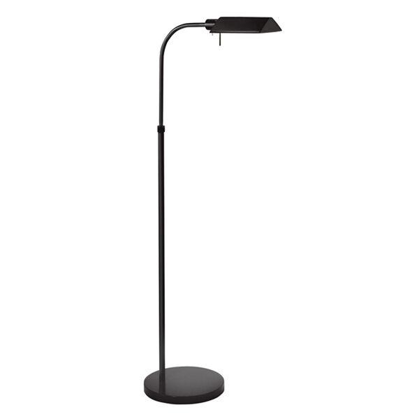Tenda Pharmacy Satin Black Adjustable Floor Lamp, image 1