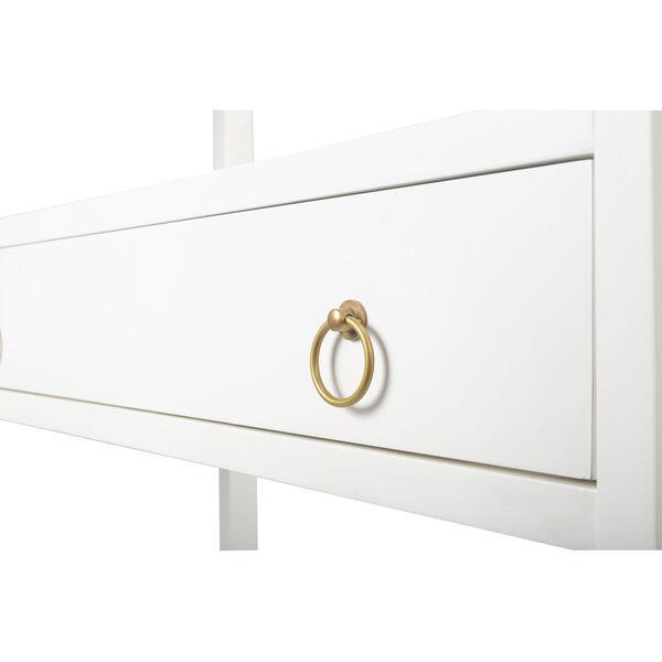 Lark White 39-Inch Rectangular Bookshelf, image 3