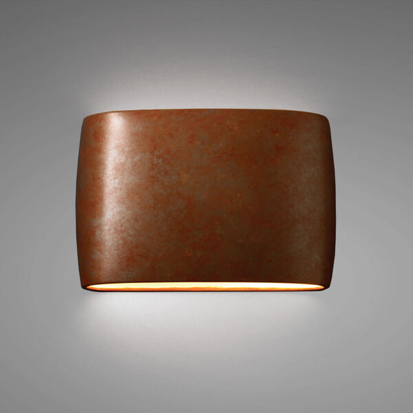 Ambiance Two-Light LED ADA Outdoor Ceramic Wide Oval Wall Sconce, image 2