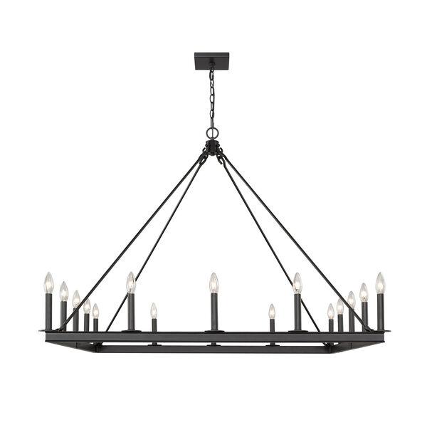 Barclay Matte Black 16-Light Chandelier, image 4