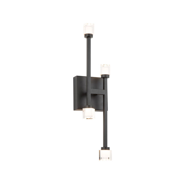Batton Black Four-Light LED Wall Sconce, image 1