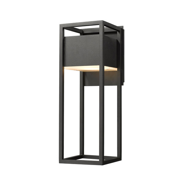 Barwick Black 7-Inch One-Light LED Outdoor Wall Sconce, image 1