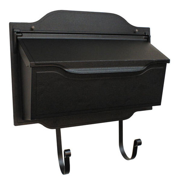 Contemporary Black Horizontal Mailbox, image 1