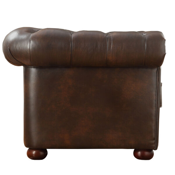 Norfolk Cocoa Chesterfield Arm Chair, image 2