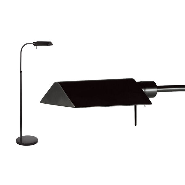 Tenda Pharmacy Satin Black Adjustable Floor Lamp, image 2