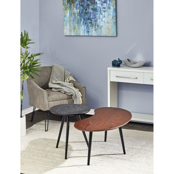 Gilmour Black and Walnut Nesting Table, image 2