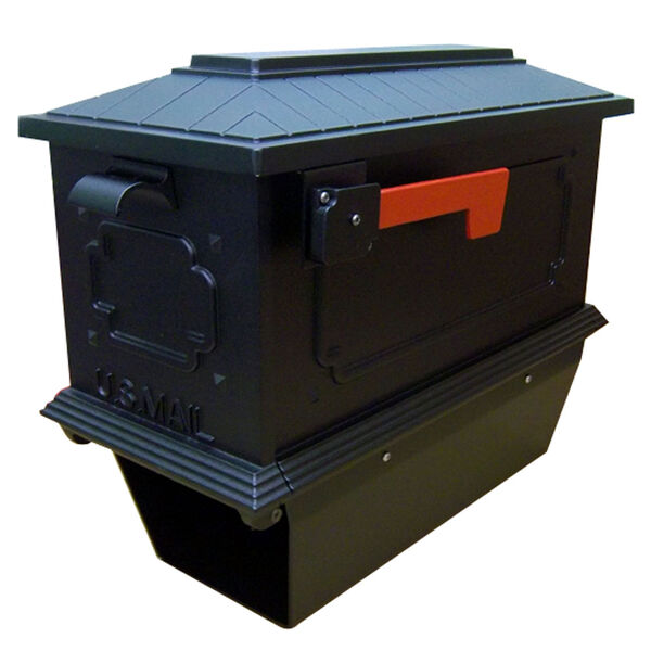 Kingston Black Curbside Mailbox with Paper Tube, image 1