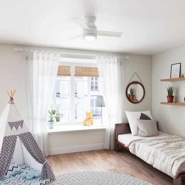Dublin Matte White 44-Inch Two-Light LED Ceiling Fan, image 3