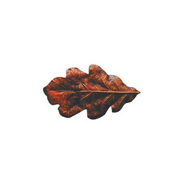 Hand Tinted Brass Oak Leaf Knob, image 1