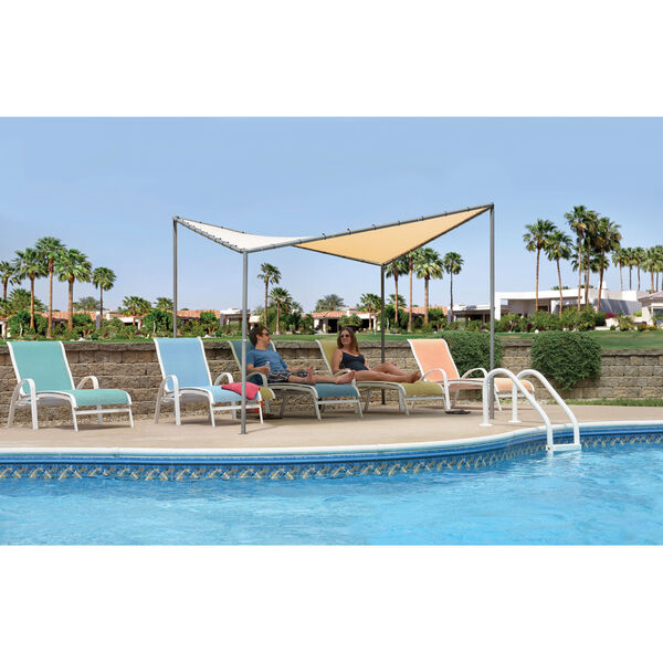 Del Ray Tan 10 x 10 Feet Canopy with Tan Cover, image 2