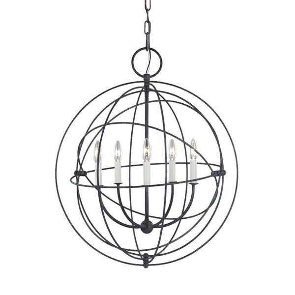 Bayberry Weathered Galvanized Five-Light Pendant, image 4