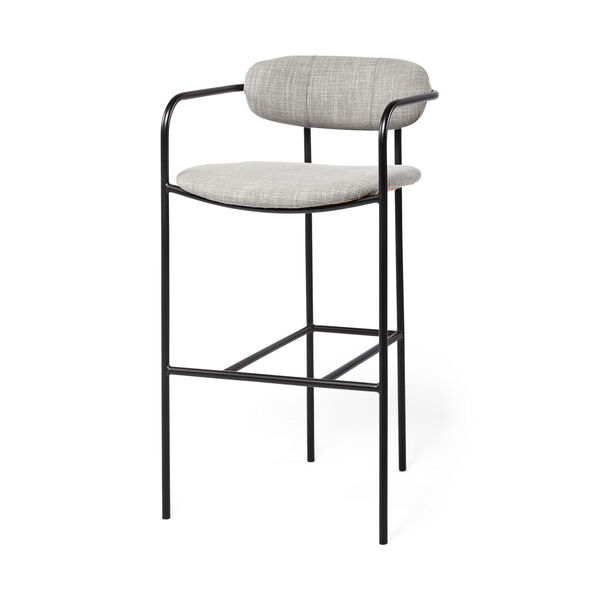 Parker Gray and Black Bar Height Stool, image 1