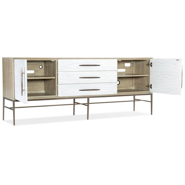 Cascade Taupe and White Entertainment Console, image 2