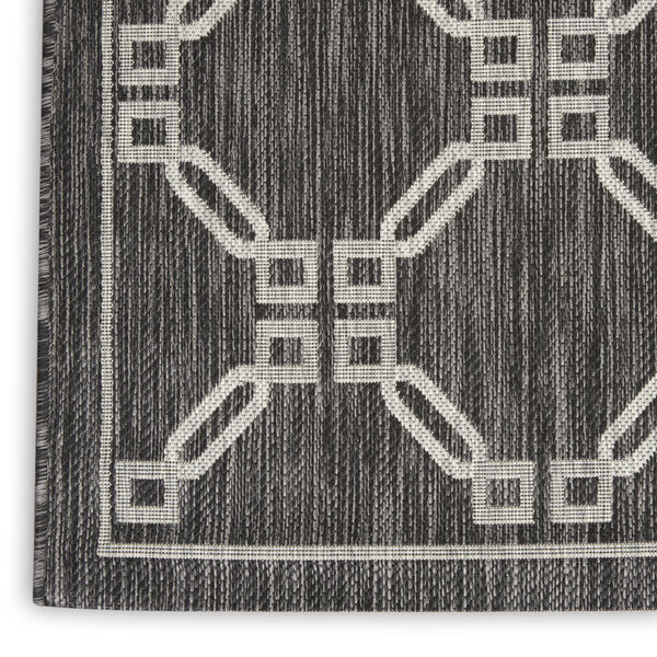Garden Party Charcoal and Gray 7 Ft. x 10 Ft. Rectangle Indoor/Outdoor Area Rug, image 5