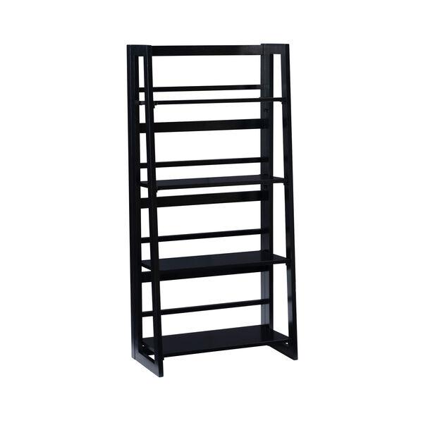 Olivia Black Folding Bookcase, image 1
