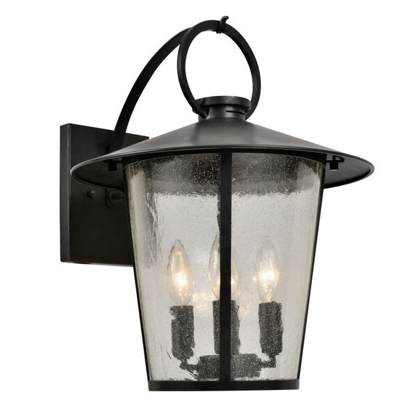 Andover Matte Black Four-Light Outdoor Wall Mount, image 1