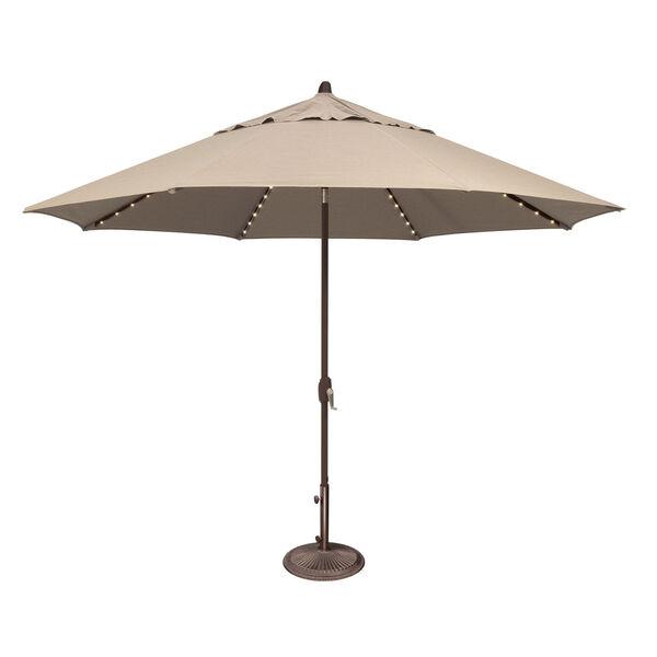 Lanai Pro Beige Octagon Auto Tilt Market Umbrella, image 1