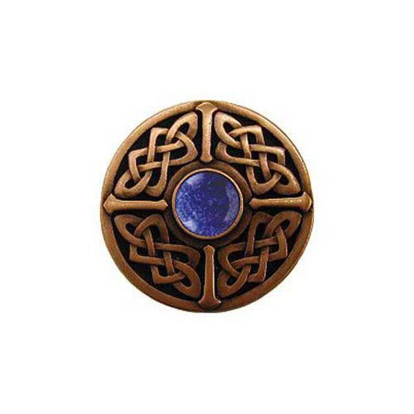 Copper Blue Sodalite Celtic Jewel Knob , image 1