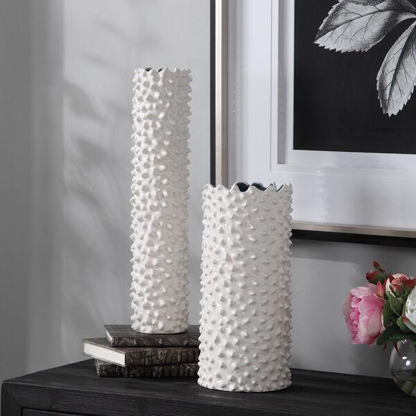 Ciji White Vases, Set of 2, image 2