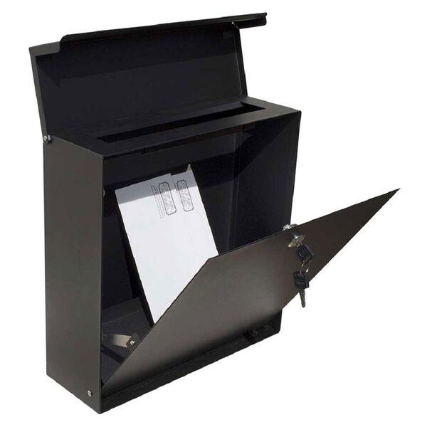 Covina Locking Mailbox Black - (Open Box), image 2