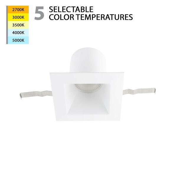 Blaze White LED Square Recessed Light Kit, image 2