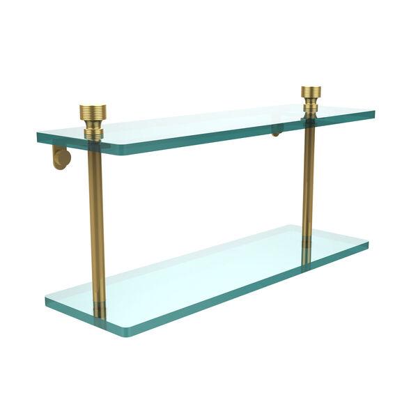 Foxtrot Polished Brass Double Shelf, image 1