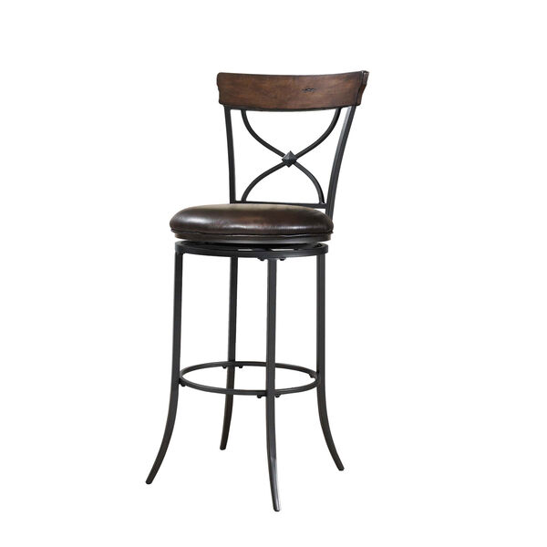 Cameron Chestnut Brown Swivel X-Back Counter Stool, image 1